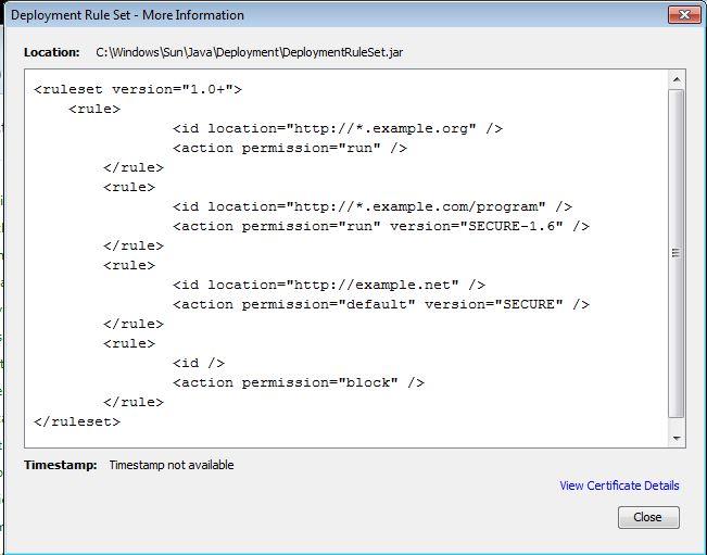 Administering Java Whitelists - Ephing Admin